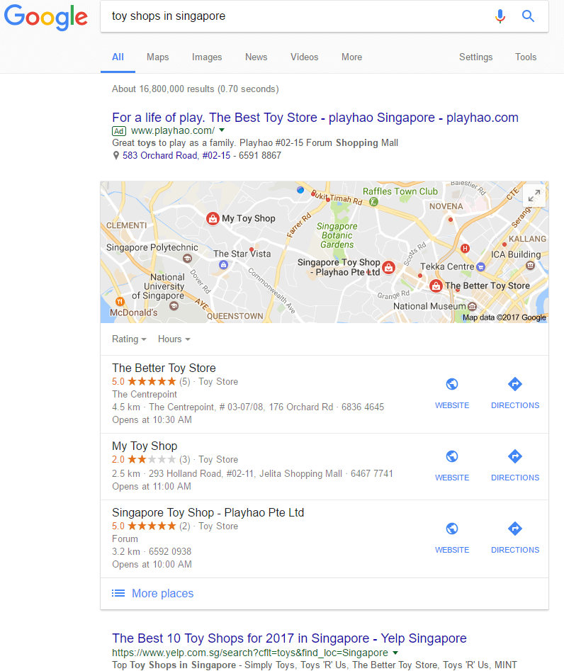Local SEO Listings Examples