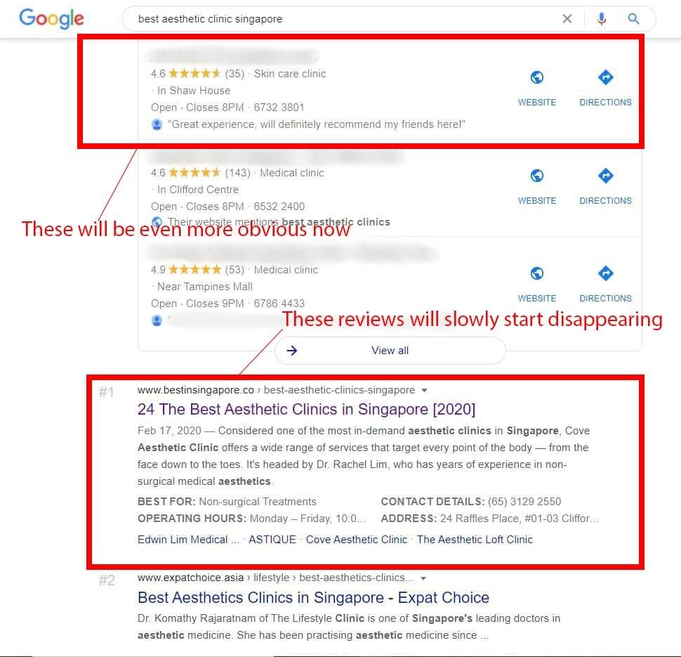 Patient Reviews on Google Reviews